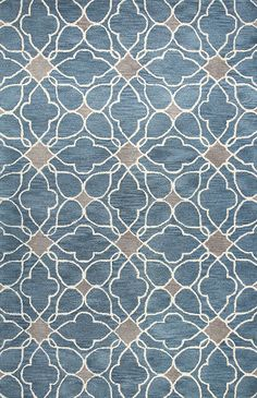 Stylishly anchor your living room or master suite with this hand-tufted wool rug, showcasing a quatrefoil trellis motif in azure. Light Blue Area Rug, Blue Area Rugs, Rug Studio, Contemporary Area Rugs, Modern Rugs, Hand Tufted Rugs, Graphic Patterns, Throw Rugs, Rug Size