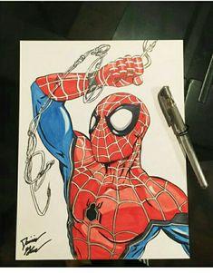 Nice artwork of homecoming Spider-Man of trilogy webline design very nice Spider-Man Spiderman Sketches, Superhero Sketches, Spiderman Drawing, Drawing Superheroes, Spiderman Movie, Marvel Drawings, Amazing Spiderman, Cool Drawings, Comic Books Art
