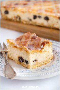 Sernik krakowski - I Love Bake Polish Cake Recipe, Polish Recipes, Polish Food, Food Cakes, Sweet Desserts, Holiday Baking, Tiramisu, Cake Recipes, Cheesecake