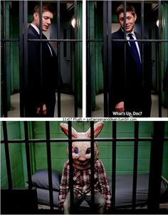 """11x07 Plush [gifset] - """"What's up, Doc?"""" - Dean Winchester; Supernatural"""