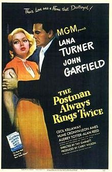 May 2nd (1946): The Postman Always Rings Twice, Tay Garnett (dir).    A married woman and a drifter fall in love, then plot to murder her husband... but even once the deed is done, they must live with the consequences of their actions.
