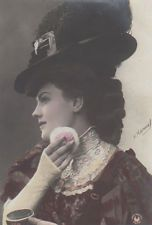 Actress Mlle Dematha With A Powder Puff Vintage Photo Postcard