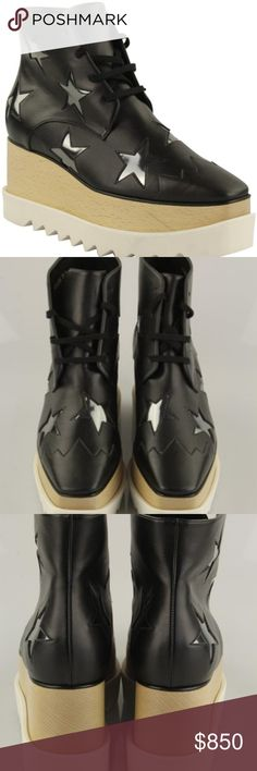 b93436f4cf0 Stella McCartney Black Elyse Star Oxford Boots CONDITION Like New This item  may have been worn