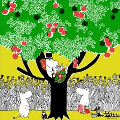 Moomin handkerchief. Moomin Wallpaper, Childhood Stories, Moomin Valley, Tove Jansson, Little My, Flowering Trees, Troll, Manga Anime, Fairy Tales