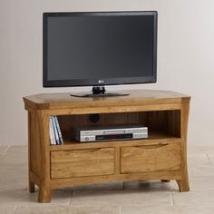 The Orrick Rustic Solid Oak Corner TV & DVD Cabinet is a compact yet highly functional unit with an exclusive rustic design. Dvd Cabinets, Corner Tv Cabinets, Small Tv Stand, Large Tv Stands, Oak Furniture Land, Dark Wood Furniture, Office Furniture, Oak Tv Cabinet, Wood Tv Unit