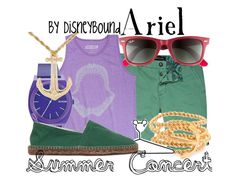 """""""Ariel"""" by leslieakay ❤ liked on Polyvore featuring River Island, Ray-Ban, ames, Disney, Nixon, Castañer and C. Wonder"""