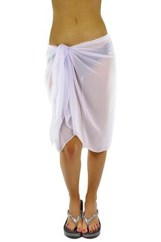 ca8264c2eb Knee Length Georgette Sarong Beach Wrap Sarong Wrap, Swimwear Cover Ups, Swimsuit  Cover Ups
