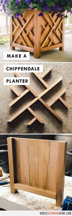 Make a Chippendale Planter : Free PDF Plans and Instructions from House Becoming Home