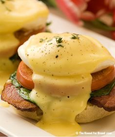 Eggs-In-A-Nest Benedict Sandwiches | Fritters/Pancakes and breakfast ...
