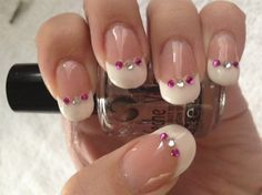 Gem French - Nail Art Gallery by www.nailsmag.com #nailart