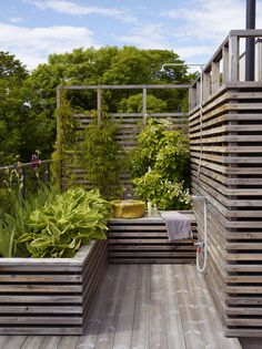 Hochbeet beds on a slope how to build Outdoor Spaces, Outdoor Living, Outdoor Decor, Scandinavian Garden, Building A Fence, Sloped Garden, Garden Yard Ideas, Garden Landscaping, Garden Inspiration