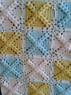 Easy Baby Blanket, Easy Crochet Blanket, Crochet Baby, Crochet Square Patterns, Crochet Blanket Patterns, Crochet Crocodile Stitch, Baby Girl Gift Sets, Mobiles, Lana