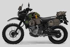 Kawazombie KLR concept bike - Motocycle Pictures and Wallpapers Bmw Scrambler, Enduro Motorcycle, Motorcycle Camping, Moto Bike, Motorcycle Adventure, Klr 650, Offroader, Biker Gear, Touring Bike