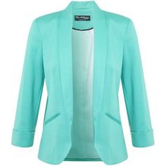 Miss Selfridge Ponte Jacket, Spearmint found on Polyvore