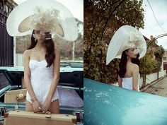 Cherubina Couture Headpieces for the Fashion Forward Bride to Be. Photos by Vogue Spain