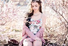 Spring blossoms with model Shiann Collins