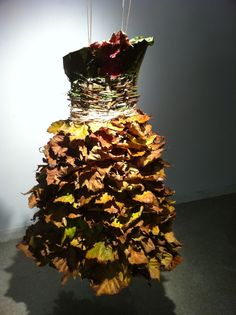 Dress made from found wood