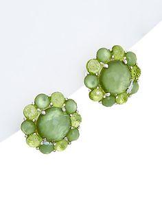 Rue La La — IPPOLITA Rock Candy Silver 38.00 ct. tw. Mother-Of-Pearl Doublet & Peridot Earrings