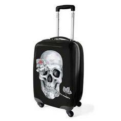'Under the Rose' Skull suitcase