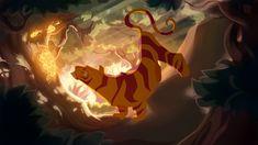 Fire Tiger Acid Panther Background by TastesLikeAnya on deviantART