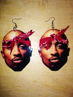 Tupac Earrings by on Etsy Custom Earrings, Etsy Earrings, Halloween Face Makeup, Etsy Shop, 3d, Cute, Awesome, Natural, Style