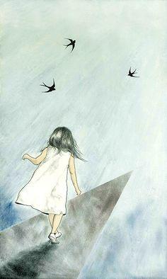 follow the birds. you will not be misguided.  By Yoshinori Kobayashi