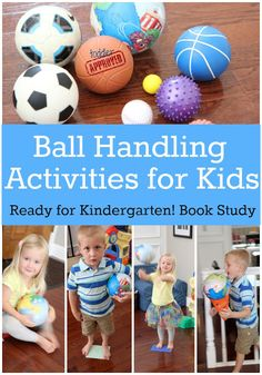 : Ready for Kindergarten Book Study: Ball Handling Activities for Kids and fun learning games with balls-gross motor- Fun Learning Games, Pe Activities, Motor Skills Activities, Movement Activities, Gross Motor Skills, Kids Learning, Physical Activities For Kids, Starting Kindergarten, Kindergarten Books