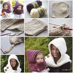 Wonderful DIY Crochet Hooded Cowl with Free Pattern