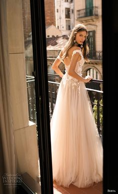 "berta fall 2019 muse bridal off the shoulder sweetheart neckline heavily embellished bodice bustier tulle skirt romantic blush a line wedding dress bv -- MUSE by Berta 2019 ""Barcelona"" Wedding Dresses 2 Piece Wedding Dress, Wedding Dress Separates, Bridal Dresses, Wedding Gowns, Wedding Ceremony, Muse By Berta, Bridal Collection, Look Fashion, Beautiful Bride"