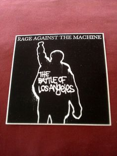 "Rage Against Machine Battle Los Angeles 4""x4"" Blk STICKER DECAL new old stock"