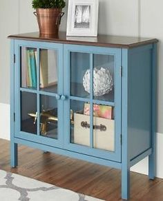 sideboard buffet door glass display cabinet console table