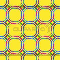 레트로 색상 서클 원활한 패턴   벡터 클립 아트   ID 3003029