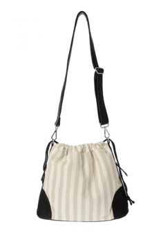 Bags :: SANTORINI Striped Canvas Tote - The Redletter Club $49.95