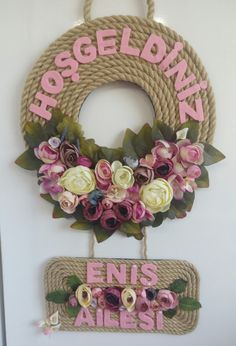 Jute Crafts, Wreath Crafts, Diy Wreath, Paper Crafts, Easy Crafts For Teens, Easy Fall Crafts, Diy Crafts For Gifts, Rustic Fabric, Embroidery Hoop Crafts