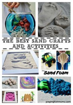 We love using sand at home! It's easily sourced and is so much FUN to use in Crafts and Activities.not to mention the sensory play benefits! Fun Crafts For Kids, Craft Activities For Kids, Summer Activities, Crafts To Do, Diy For Kids, Craft Ideas, Preschool Activities, Sand Castle Craft, Castle Crafts