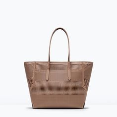PERFORATED SHOPPER BAG from Zara a nice take on the Dolce but with a lining to protect your things! summer day tote?