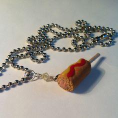 Corndog necklace