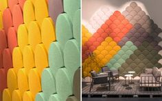 Ginkgo Acoustic panel Blå Station Stone Designs