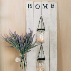 DIY Farmhouse Lanterns for Wall Decor. It's ❤️ at first💡light with these farmhouse lanterns. Diy Wall Decor, Decor Crafts, Diy Bedroom Decor, Bedroom Ideas, Idee Diy, Diy Décoration, Easy Home Decor, Diy Home Décor, Crafts For The Home