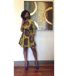The Von Me Dress: Yellow ankara African wax print by ALeapOfStyle