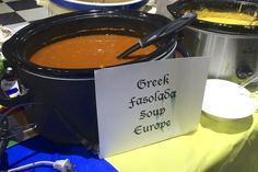 Second favorite soup of the day! Greek Fasolada.