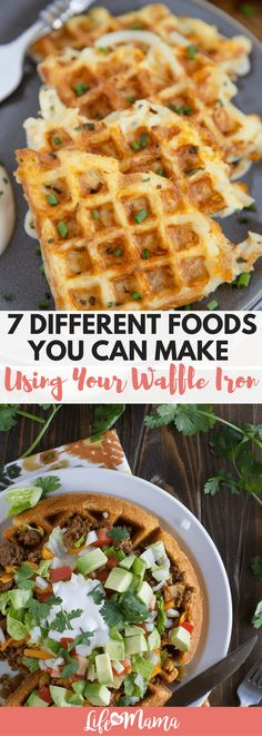 These meals are made using a waffle iron, and they aren't for breakfast! So delicious and so creative.