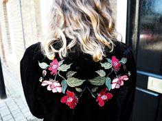 The Velvet Floral Bomber