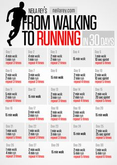 From Walking to Running in 30 Days #cardio #monthlyworkup