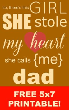 Free 5x7 Father's Day Printable