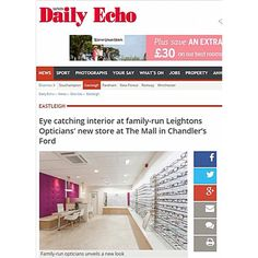 The Daily Echo reveals the new and highly improved Chandlers Ford- full story here http://bit.ly/1PoON2N  #Makeover #Leightons #Opticians #Eyewear #PrettyInPink #Modern #Fashionable #Designer #Unique #Funky #Stylish