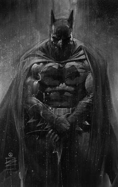 The awesome black and white art of Eddie Newell — Batman