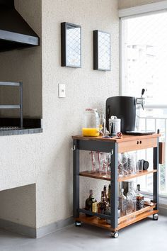Understanding Mini Bar Design Ideas Some balconies are made to compliment the present home design and decor. When it has to do with designing an outdo. Mini Bars, Kitchen Bar Design, Kitchen Decor, Bar Sala, Small Bars For Home, Cherry Wood Cabinets, Diy Bar, Furniture For You, Room Inspiration