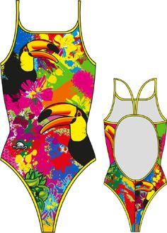 Turbo Swimwear - Turbo TOUCAN COLOURS Thin Strap Swimsuit, £34.95 (http://www.turboswimwear.co.uk/turbo-toucan-colours-thin-strap-swimsuit/)