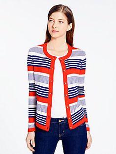 Kate Spade- desimona cardigan, multi stripe
